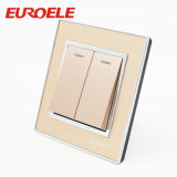 Acrílico Champagne Gold Color 3 Gang Wall Switch
