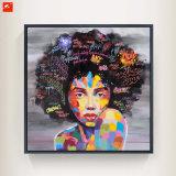 Les femmes noires pop moderne Portrait peinture huile sur toile Imprimer