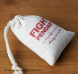 Customize Logo Natural Drawstring Cotton Bag