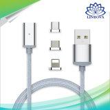 3 in 1 USB-Laufwerk-Metallmagnetischem Daten-Kabel mit Mikro-USB u. Beleuchtung u. in Typen C für androides iPhone7/6s/6 Samsung Sony Xiaomi