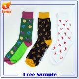 Kundenspezifischer Baumwollgroßverkauf-glückliche bunte Kleid-Socken
