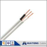 alambre eléctrico del alambre de tierra del amarillo del verde del alambre del PVC 450/750V