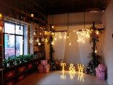 Luces con pilas plásticas del espejo LED de la estrella del regalo de la decoración