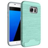 Cubierta híbrida con la caja del teléfono de Kickstand de la ranura para tarjeta para Samsung
