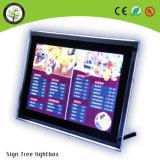 ライトボックスの水晶Lightboxを広告する高い明るさのアクリル