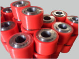 El poliuretano rueda base de hierro de la capa