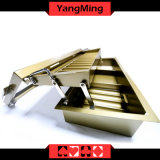 Bandeja de la viruta de póker del metal de 15 filas con la caja de la viruta de póker de dos capas con la cubierta Ym-CT15 del bloqueo
