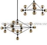 Lampadario a bracci delle sfere di vetro di stile dell'annata per la decorazione