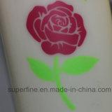 Impreso de la energía de batería de la flor rosa Pilar artificiales para bodas Velas LED