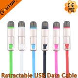 주문 로고 철회 가능한 USB 데이터 비용을 부과 케이블