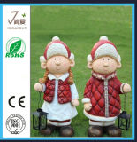 Polyresin della decorazione della zappa del regalo di natale del Figurine del Babbo Natale