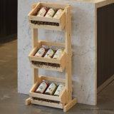 Стойка клети индикации пола универсального шкафа деревянная для плодоовощ, вина