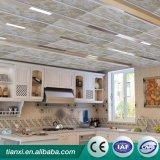 Panneau de plafond en bois respectueux de l'environnement de PVC de ciel bleu d'impression de matériau de construction
