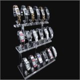 Черная или ясная акриловая стойка индикации для Bangle ювелирных изделий, вахт. Емкость 18, ярус 3