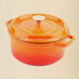 鋳鉄のカセロールの鍋Dia 22cm 24cm、26cm、28cm