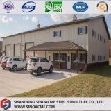 Prefabricated 가벼운 강철 구조물 창고 제작