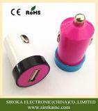 Заряжатель автомобиля USB цветастого заряжателя автомобиля 5V 1A портативный для мобильного телефона