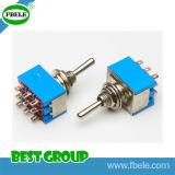 Interruttore di spinta del commutatore rotante dell'interruttore basculante del piccolo interruttore