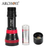 Archon W32vr 자석 반지 스위치 빨간불은 2000 루멘 공정한 판단 잠수 영상 빛을 데운다