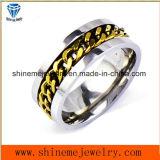 Shineme incrustaciones de joyas de la cadena de moda anillo de acero inoxidable (SSR2776)
