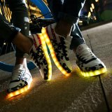 Adulto Yeezy Boost 350 sapatos LED com carregador USB