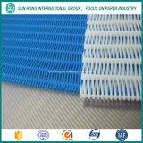Ткань с плоской тканью из плоской / круглой пряжи для изготовления бумаги