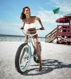 Retro 숙녀 또는 여자 작풍 3 7speed 또는 포도 수확 또는 향수 20X4 또는 26X4 바닷가 함 넓거나 뚱뚱한 타이어 자전거 또는 뚱뚱한 타이어 자전거 또는 모래 또는 눈 자전거 또는 지방 자전거