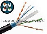Cable de la comunicación del cable CAT6 de la red de cable del LAN