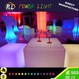 Cube matériel en éclairage LED de salle de séjour de PE