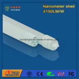 indicatore luminoso fluorescente Nano della plastica 18W LED di 150lm/W 4FT 1200mm con Ce RoHS approvato