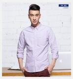 Casual caliente de manga larga de algodón puro hombre Camisa Oxford nueva