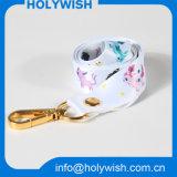 Poliéster por mayor Impreso sublimación cuerda de seguridad con gancho de metal de oro