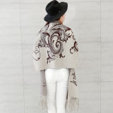 Mode féminine Viscose tricot de nylon Fringe hiver Cardigan (YKY2068)