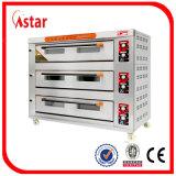 De klassieke Oven van de Pizza van het Brood van de Cake van het Brood van de Grootte van het Gas Grote voor Fabriek van de Oven van het Dek van het Roestvrij staal van de Apparatuur van het Baksel van de Keuken van het Restaurant de Commerciële in China