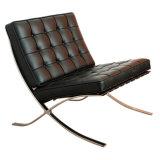 Salão de couro de lazer Barcelona Sofá cadeira com Ottoman