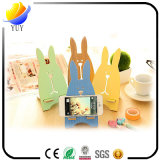 Creative Cute Cartoon Jailbreak Rabbit Support téléphonique en bois