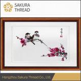 中国の刺繍の鮮やかな鳥および花の壁絵画