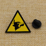 Distintivo duro su ordinazione di Pin di Pikachu del metallo dello smalto di promozione