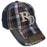 3Dロゴの点検されたお父さんの帽子Gj1710A