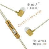 Il silicone di buona qualità ha reso a marchio il trasduttore auricolare astuto del volume dell'in-Orecchio