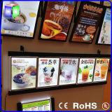 De slanke LEIDENE Onverwachte Lichte Doos van het Frame voor Fast-Food Raad