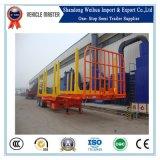 중국 대중적인 45t 2 차축 공장에서 목제 수송 트레일러 트럭