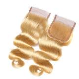 Toupee dorato e saltato dei capelli dell'onda per la ragazza di Blong