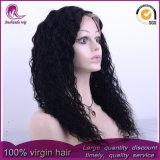 A largo rizado cabello virgen Brasileña de encaje completo peluca