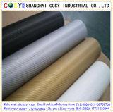 공기 자유로운 거품 1.52*30m 차 포장 비닐을%s 가진 고품질 3D 탄소 섬유 비닐