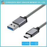Os dados de carga trançado Nylon Micro USB do magneto 3.1 Tipo C Cabo para iPhone 8/8plus
