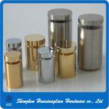 Messingüberzug-Glas-Distanzhülsen-Festlegung-Schrauben mit weicher Unterlegscheibe