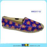 Zapatos ocasionales del ocio caliente de la venta con la cuerda del cáñamo