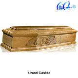 Caixão interior e caixão do lustro elevado italiano de madeira