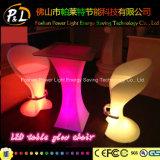 Tabella rotonda ricaricabile del Poseur della mobilia LED di svago della decorazione del partito